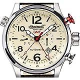 Ingersoll Herren-Armbanduhr XL Lawrence Chronograph Automatik Leder IN3218CR - 2
