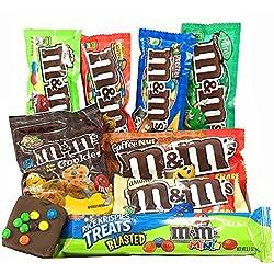 Cesta Americana M&M | Chocolate y Caramelo | Golosinas para Navidad Reyes o para regalo | Caja de M&Ms caramelos y Chucherias Americanas