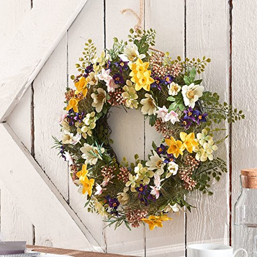 Pureday Dekokranz Rebecca - Blütenkranz - Bunt - ca. Ø 40 cm