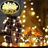 Globo di luci di Natale 10M 100 luci a stringa Leds per interni per camera da letto Decorazioni natalizie, 8 modalità Illumin