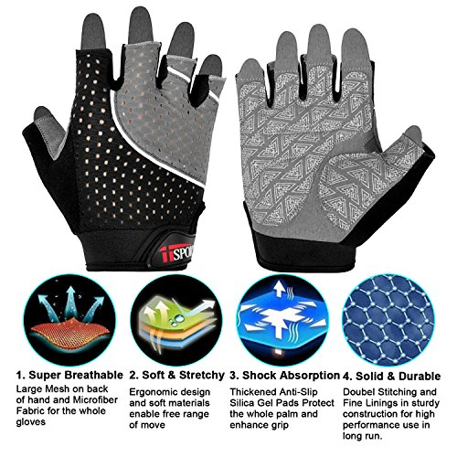iiSPORT-Weight-Lifting-Gloves-Gym-Crossfit-Bodybuilding-Workout-Gloves-Gray-XL