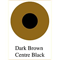 AffablE Star Contact Lens for Damage Eyes or Prosthetic Lens pack of 1 pcs, Color - Dark Brown Center black