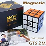MAGNETICO *Weilong GTS v2 M* - Magnetizado MoYu 3x3 Profesional & Competencia Cubo de Velocidad Rubik's Cube Rompecabezas 3D Puzzle - BLACK