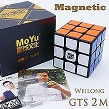 MAGNETICO *Weilong GTS v2 M* - Magnetizado MoYu 3x3 Profesional & Competencia Cubo de Velocidad Rubik's Cube Rompecabezas 3D Puzzle - BLACK