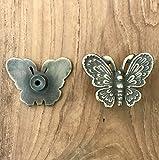 Cómoda Vintage Interior 2pieza Juego de muebles antiguos Botones de tiradores de cajones Pomos mariposa...