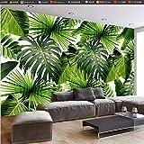 ATR Personnalisé 3D Murale Murale Papier Peint Tropical Forêt Tropicale Banane Feuilles Photo Murales Salon Restaurant Café Toile De Fond Mur Papier Peint Murales-1 * 1 M