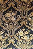 Vinyltapete Tapete Barock Retro # blau/gold/kupfer # Fujia Decoration # 22623