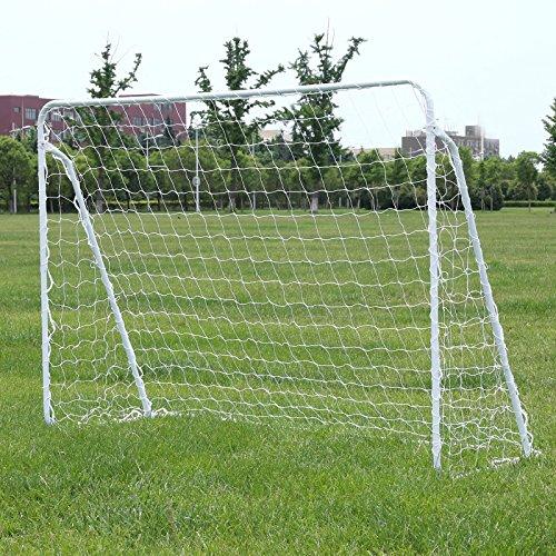 Songmics Fußballtor Maße 240x150x90cm Nets Portable Blau SZQ240 - 4