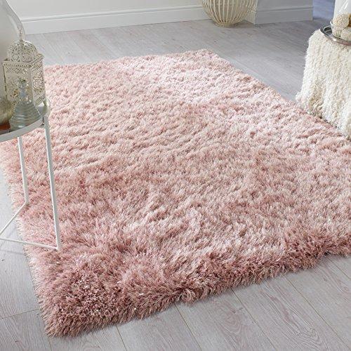 Erugs flair rugs contemporaneo profonda spessore qualità ciuffi a pelo lungo in tinta unita shaggy tappeti/moquette tappeti, blush pink-160x 230cm