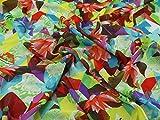 Geometrische Floral Print Chiffon Kleid Stoff, Meterware,