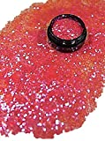3 ml Glitterpailetten (1mm) Babyrosa in Acryl Tiegel