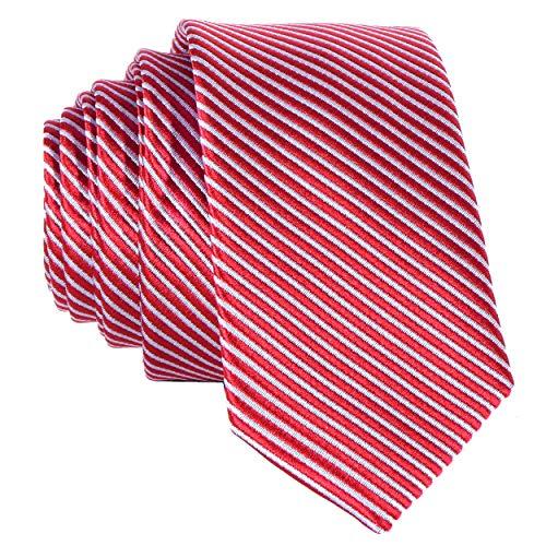 eiß gestreifte handgefertigte Krawatte 5 cm ()