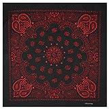 Alex Flittner Designs Bandana mit exclusivem Paisley Muster in schwarz/rot