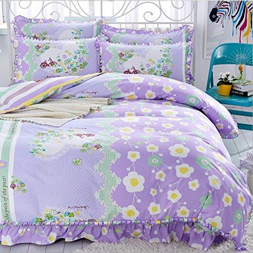 Koreanische Art Bettwäsche 3D vier Sätze von Tribute Baumwollspitze Bed Rock Prinzessin Models (Für 1.5M - 1.8M Bett) , 14 , 200*230