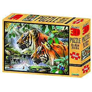Howard Robinson temprano por la mañana en Bengala 3D Super-Puzzle 500 Piezas, Multicolor