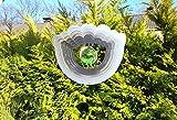 HGS Windspiel 3 D Edelstahl mit Glaskugel Blume 19,5x23,5 cm inkl. Hängevorrichtung