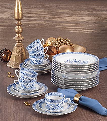 Seltmann Weiden 30-pc tableware set blue