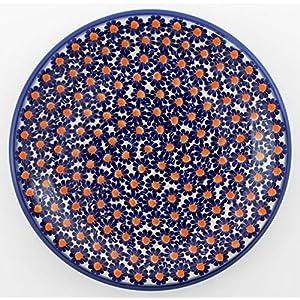 Classic Boleslawiec Pottery Hand Painted Ceramic Dinner Plate Diameter: 26.0cm /10.2 inch (U-002)