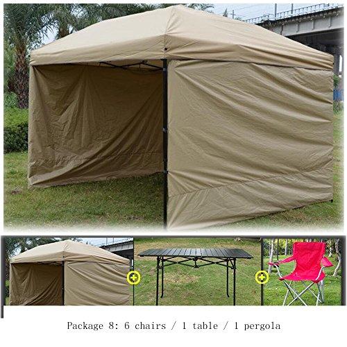 QFFL zhangpeng Zelt-automatische quadratische Markise Stallregenschirm-Überdachung Im Freien kampierende Antriebslaube Überdachungs-Zeltpaket 5 Farben wahlweise freigestellt Tunnelzelte