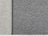 ab 1m: Sommer-Sweat, Terry Sweatshirt Stoff, blaugrau, 160cm breit