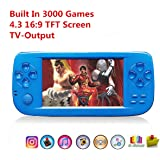 """Anbernic Handheld Game Console , Retro Game console with 4.3"""" 3000 Games, Portable Game Console PAP-KIII , Support GBA / GBC / GB / SEGA / NES / SFC / NEOGEO for Children"""