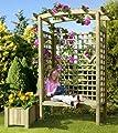 Gartenbank Holz Pergolensitz Arkaden-Gartensitz Gartenlaube von Gartenpirat® von Gartenpirat - Gartenmöbel von Du und Dein Garten