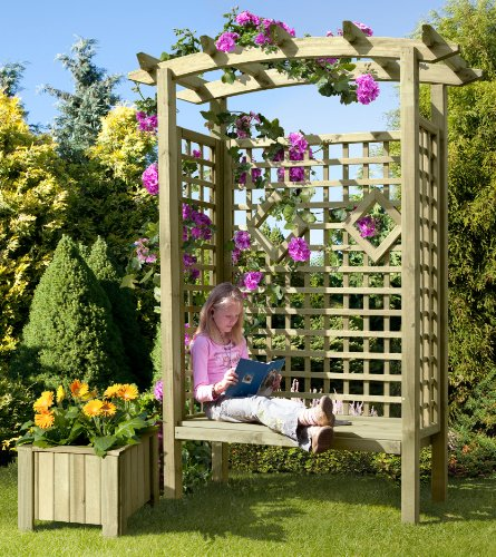 Gartenbank Holz Pergolensitz Arkaden-Gartensitz Gartenlaube von Gartenpirat® - 2