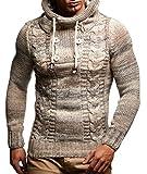 LEIF NELSON Herren Pullover Hoodie Kapuzenpullover Strickpullover Longsleeve Sweater Sweatshirt