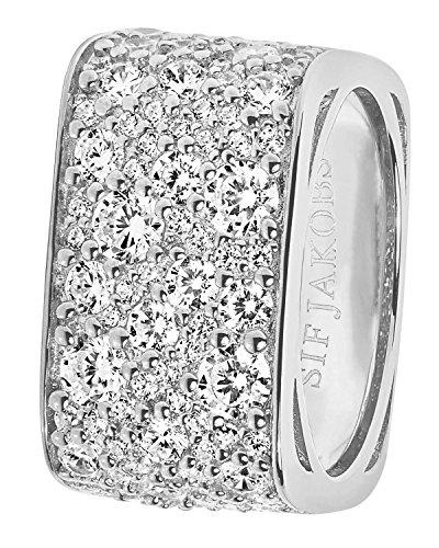 Sif Jakobs Jewellery Damenring Novara Quadrato Ringgröße 60/19,1 SJ-R1060-CZ/60