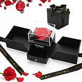 Gohytal Rosa Eterna, Bella e la Bestia Rose Confezione Regalo di Gioielli in Rosa Stabilizzate Fiore Mai Appassito Romantico