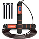 multifun Skipping Rope, Jump Rope Speed Calorie Counter,Adjustable Digital Jump Rope with Alarm Reminder for Fitness…