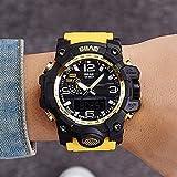 ZHRUIY Armbanduhren ZH-094 Nummer + Zeiger Anzeige EL-Hintergrundbeleuchtung Sport Im Freien Multifunktional 30M Wasserdicht Elektronisch Armbanduhr Eisenkastenverpackung 7 Farben