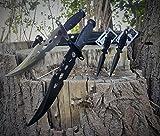 """36cm CANADA """"Forrest Ranger"""" Mega Bowie - Jagd - Outdoor - Survival - Messer / incl. Dolch Beimesser und 12in1 Survival-Card (Silber - Schwarz)"""