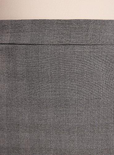 oodji Collection Damen Gerader Rock mit Reißverschluss und Schlitz Grau (2329C)
