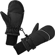 Terra Hiker Kinder Winter Handschuhe, Unisex Fäustlinge Fäustel, Wasserfest und Winddicht Skihandschuhe, Thermo Schnee Kinderhandschuhe für Outdoor Sport