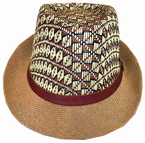 CLUB CUBANA Chapeaux Fedora Hawaïen pour Hommes Femmes Unisexe Trilby Chapeau Panama Style Plage D'été Soleil Jazz Costume Casquette De Soirée Luau