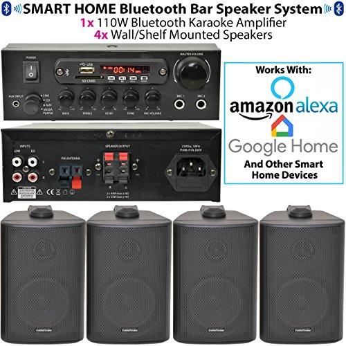Kit di amplificatore e altoparlanti bluetooth a parete,wireless