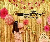 shinybeauty® 0,9x 2,4m lamina oro metallizzato con frange tenda fotografica sfondo/Hanging Tinsel/Hanging/Foil frange tenda di finestra tenda/tenda per porta, ingresso/cutain