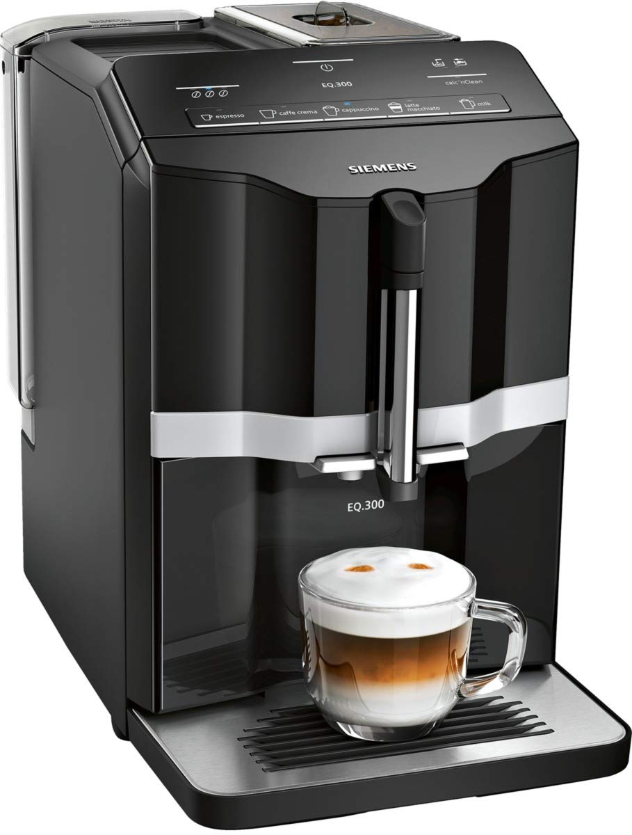 Siemens-EQ3-s100-Kaffeevollautomat-TI351509DE-Keramikmahlwerk-Direktwahltasten-1300-Watt-schwarz