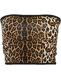 Homebaby Canotte Donna Eleganti Sexy Leopardato Maglietta Donna Estiva Modo T-Shirt Sportive Gilet Camicetta Canotte Senza Maniche Crop Tank Top in Cotone Casuale