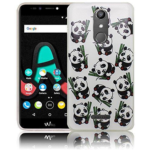 Wiko U Pulse Lite Kleine Panda Bären Silikon Schutz-Hülle weiche Tasche Cover Case Bumper Etui Flip smartphone handy backcover Schutzhülle Handyhülle thematys®