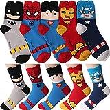Marvel Socken Comics Superheld Charakter für die Frau Packung mit 5 M Mehrfarbig