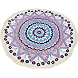 Surenow Manta Toalla de Playa Tapiz Mandala Mantel de Picnic Esterilla de Yoga Estilo Bohemio con Borlas Grande...