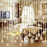 hunpta 1LUXUS-Glasperlen Tür-Quaste Vorhang Hochzeit Trennwand Room Decor farblos