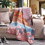 Reversible 125 x 150cm Cotton Chic Boho Quilted Throw Blankets by Exclusivo Mezcla
