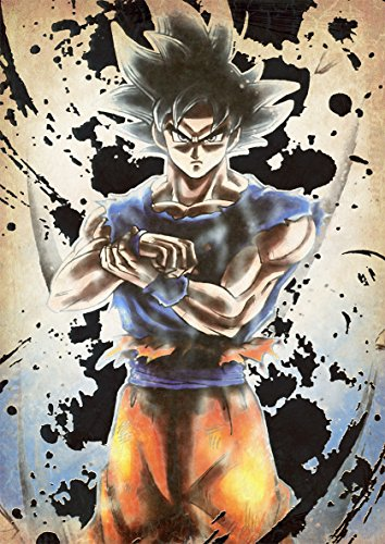 "Poster Dragon Ball ""Wanted"" Goku Ultra istinct - A3 (42x30 cm)"