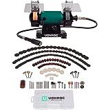 VONROC Bänkslipmaskin - multifunktionsverktyg 150 W – 75 mm med flexibel axel Inkl. 192 tillbehör