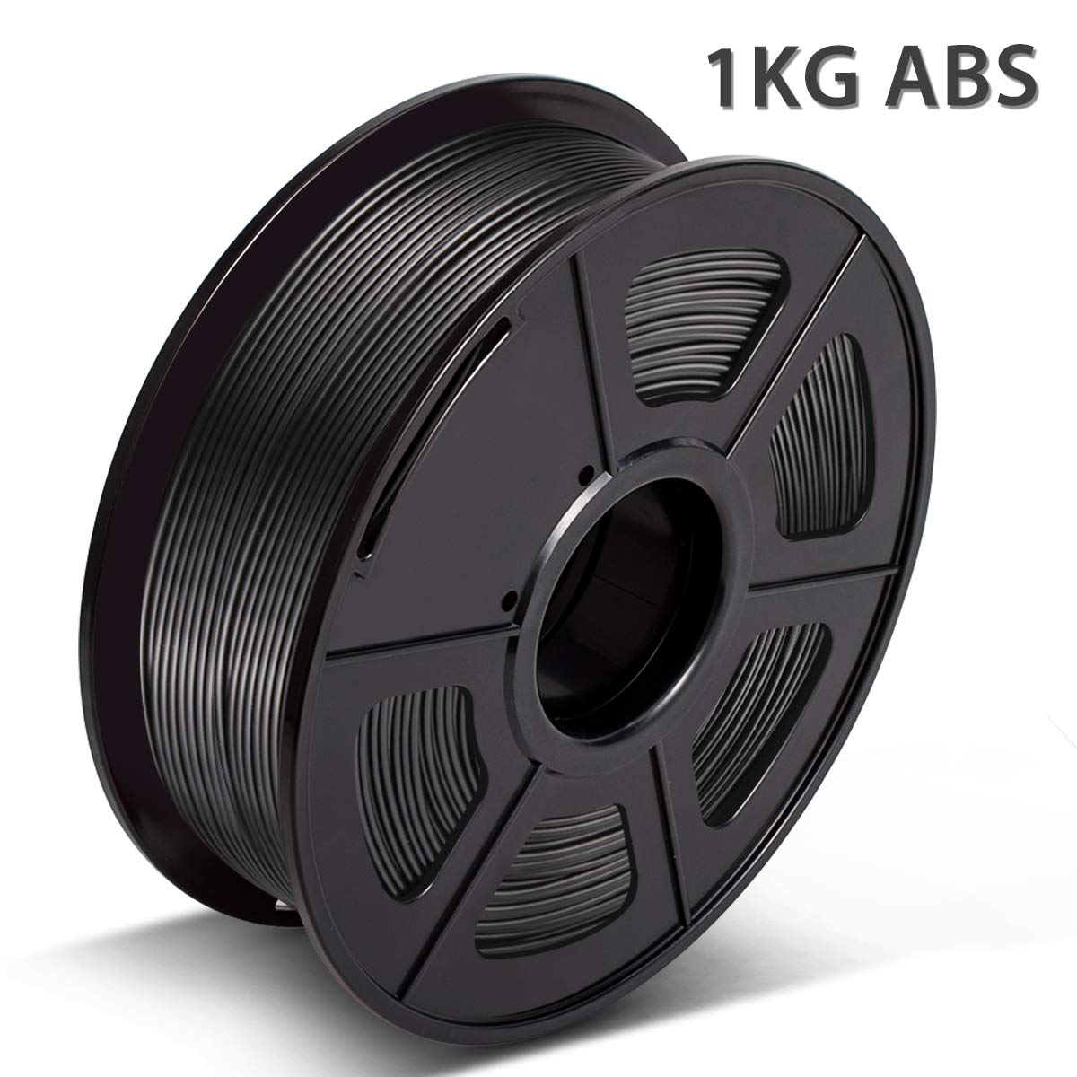 2.2 LBS PLA Filament Black 1KG Bonus with 5M PCL Nozzle Cleaning Filament Dimensional Accuracy +//- 0.02 mm ,1.75mm Filament 3D Hero PLA Filament 1.75mm,PLA 3D Printer Filament