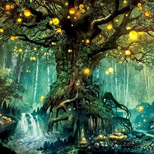 Fairy & Devil 5D Stickerei Gemälde Strass eingefügt DIY Diamant Malerei Kreuzstich (Wald - Traum) (Kreuzstich-träume)