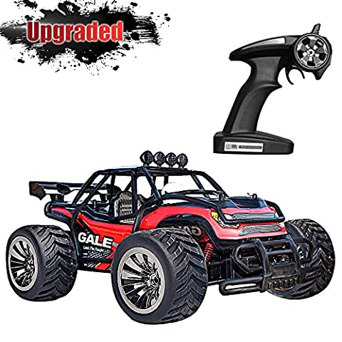 Upgraded Vatos RC Car Remote Control Car 1:16 Scale 2.4Ghz Racing Truck Off Road Electric High Speed Monster Truck RC Buggy Race Crawler 2WD 50M Distance Vehicle Toy Radio Controlled Car With 4 Lock